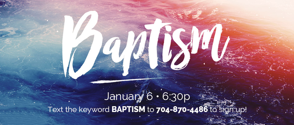 Don't miss out on the first baptisms of the new year!