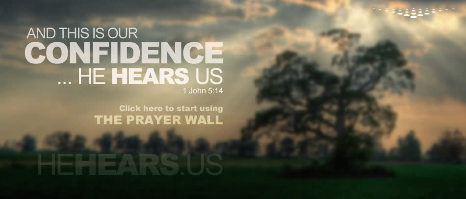 We can pray with confidence because HE HEARS US.
