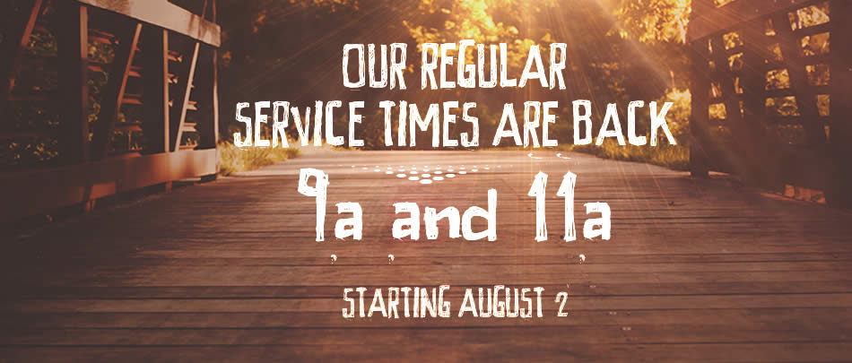 We're resuming our regular service schedule beginning in August.